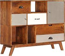 vidaXL Sideboard 115x35x86 cm Solid Acacia Wood