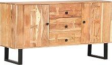 vidaXL Sideboard 150x40x75 cm Solid Acacia Wood