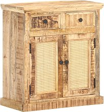 vidaXL Sideboard 65x32x70 cm Solid Mango Wood and
