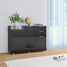 vidaXL Sideboard High Gloss Black 107x35x76 cm