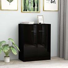 vidaXL Sideboard High Gloss Black 60x30x75 cm