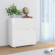 vidaXL Sideboard High Gloss White 71x35x76 cm