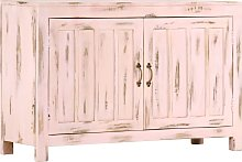 vidaXL Sideboard Light Pink 110x35x70 cm Solid