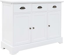 vidaXL Sideboard with 3 Doors MDF and Pinewood 105x35x77.5 cm