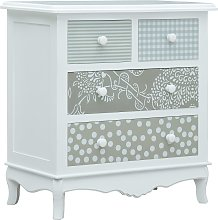 vidaXL Sideboard with 4 Drawers White and Grey