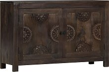 vidaXL Sideboard with Carved Design 110x35x70 cm