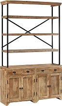 vidaXL Sideboard with Shelves Solid Mango Wood