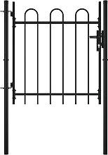 vidaXL Single Door Fence Gate with Hoop Top 100 x