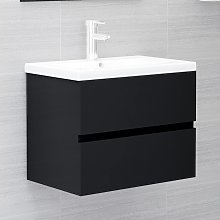 vidaXL Sink Cabinet Black 60x38.5x45 cm Chipboard