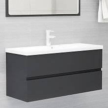 vidaXL Sink Cabinet Grey 100x38.5x45 cm Chipboard