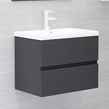 vidaXL Sink Cabinet Grey 60x38.5x45 cm Chipboard