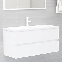 vidaXL Sink Cabinet White 100x38.5x45 cm Chipboard