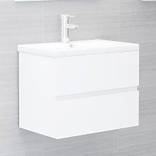 vidaXL Sink Cabinet White 60x38.5x45 cm Chipboard