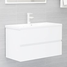 vidaXL Sink Cabinet White 80x38.5x45 cm Chipboard