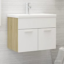 vidaXL Sink Cabinet with Built-in Basin White and