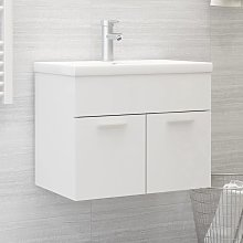 vidaXL Sink Cabinet with Built-in Basin White