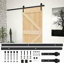 vidaXL Sliding Door with Hardware Set 100x210 cm