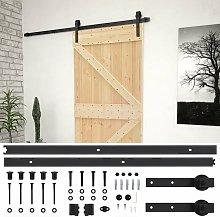 vidaXL Sliding Door with Hardware Set 80x210 cm