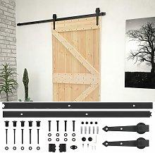 vidaXL Sliding Door with Hardware Set 90x210 cm