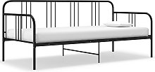 vidaXL Sofa Bed Frame Black Metal 90x200 cm
