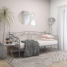 vidaXL Sofa Bed Frame Grey Metal 90x200 cm