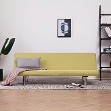 vidaXL Sofa Bed Green Fabric