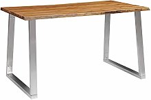 vidaXL Solid Acacia Wood Dining Table Home Decor