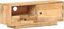 vidaXL Solid Mango Wood TV Cabinet Living Room