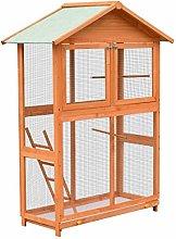 vidaXL Solid Pine & Fir Wood Bird Cage