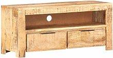 vidaXL Solid Rough Mango Wood TV Cabinet Bedroom