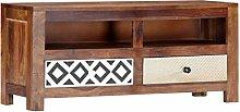 vidaXL Solid Sheesham Wood TV Cabinet HiFi Plasma