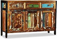 vidaXL Solid Wood Sideboard Reclaimed 120x35x76cm