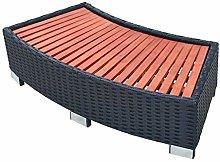 vidaXL Spa Step Poly Rattan 92x45x25cm Black Hot