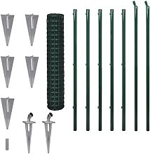 vidaXL Spike Euro Fence Set 1.5x10m Steel Mesh