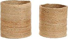 vidaXL Storage Basket Set 2 Pieces Handmade Jute