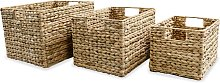 vidaXL Storage Basket Set 3 Pieces Water Hyacinth