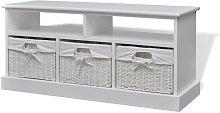 vidaXL Storage Bench Aarau White