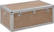 vidaXL Storage Box Solid Fir Wood 91x52x40 cm Brown