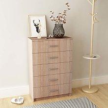 vidaXL Storage Cabinet Chipboard 71x35x108 cm Oak