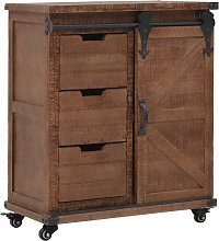 vidaXL Storage Cabinet Solid Fir Wood 64x33.5x75