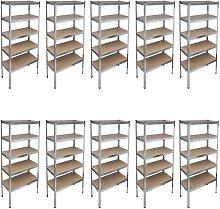 Vidaxl - Storage Rack Garage Storage Shelf 10pcs