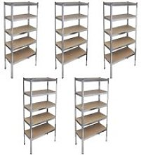 Vidaxl - Storage Rack Garage Storage Shelf 5pcs -