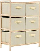 vidaXL Storage Rack with 6 Fabric Baskets Cedar