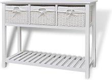 vidaXL Storage Sideboard White - White