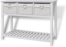 vidaXL Storage Sideboard White