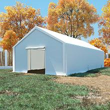 vidaXL Storage Tent PE 5x10 m White