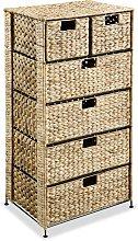 vidaXL Storage Unit with 6 Baskets 47x37x100 cm
