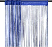 vidaXL String Curtains 2 pcs 100x250 cm Blue - Blue
