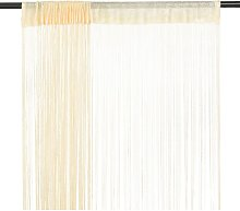 vidaXL String Curtains 2 pcs 100x250 cm Cream - Cream