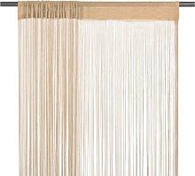 vidaXL String Curtains 2 pcs 140x250 cm Beige